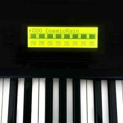 LCD Display Yamaha SY77, SY99, TG77 Cable Kitl, LED Backlight,Replacement