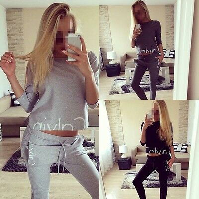 New Women 2Pcs Hoodies Sweatshirt Pants Sets Sport Wear Casual Tracksuit Suit