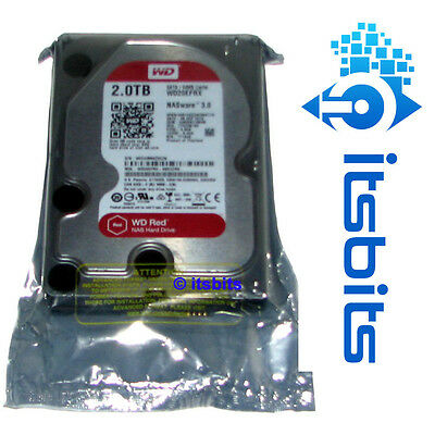 "WESTERN DIGITAL 2TB RED NAS HARD DRIVE SATA 3 6Gbs 3.5"" 3 YEARS WARRANTY NEW"