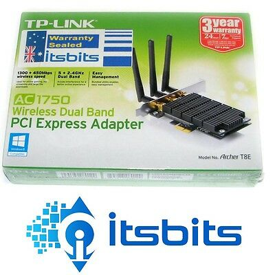 TP-LINK ARCHER T8E AC1750 Dual Band WIRELESS N PCI-E 5GHz & 2.4GHz NETWORK CARD