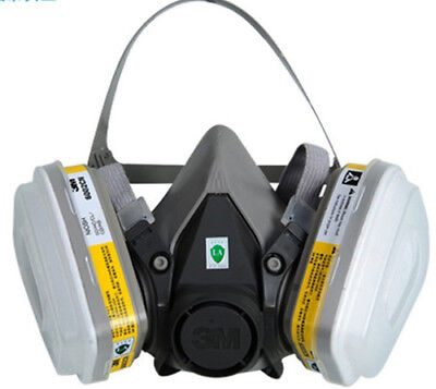 For 3M 6200 6002 15 pcs Suit Respirator Painting Spraying Face Gas Mask 5N11 501