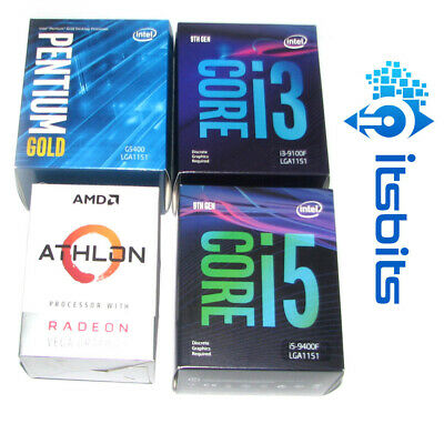 INTEL & AMD CPU AM4 RYZEN ATHLON CELERON PENTIUM CORE i3 i5 1151 GEN 7/8 GEN 9