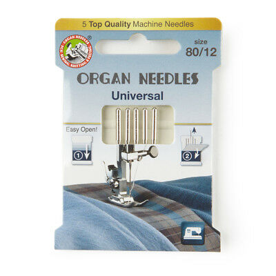 Organ Universal Domestic Sewing Machine Needles size 80 (130R-080-ECO5OR)
