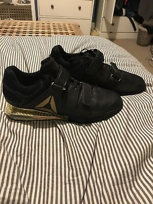 Reebok Legacy Lifter - Black & Gold Edt. UK size 12. Great Condition. Crossfit