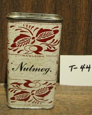 Old 3 Oz. Rawleigh Nutmeg Empty Tin In Mint Condition - Slide Works Just Fine
