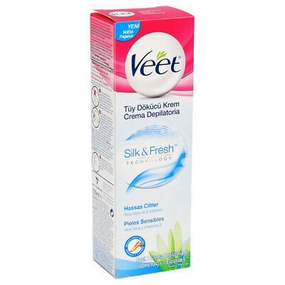 Veet Hair Removal Cream Silk & Fresh Sensitive Skin Aloe Vera & Vitamin E