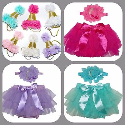 NEW -Baby Girls Frilly Ruffle Tutu Pants Birthday Hat for Photos & Cake Smash