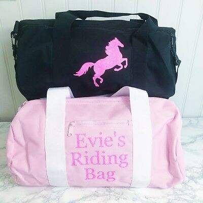 Girls Personalised Sports Bag Horse Riding, Activity Bag, Sleep over Weekend bag