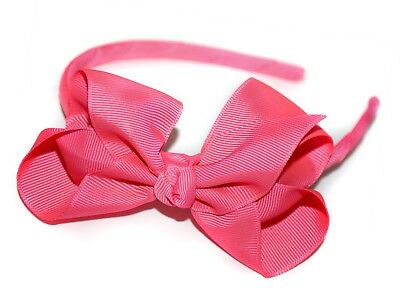 25 X  Candy Bows Traditional Classic Headbands Assorted Colours