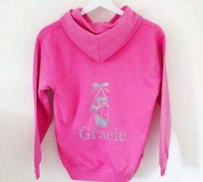 Girls Personalised Hoodie for Dance, Ballet, Tap, Activity Hoodie for Girls