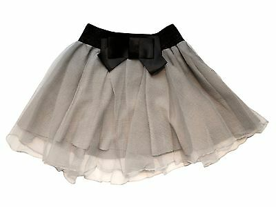 Girls Tweens Tutu Party Skort - Grey - with Shorts Under Skirt - Party Outift