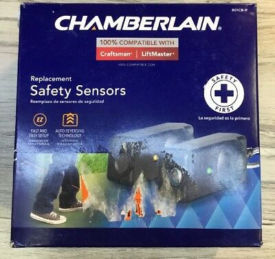 Chamberlain Replacement Safety Sensors with Brackets 801CB New HDB
