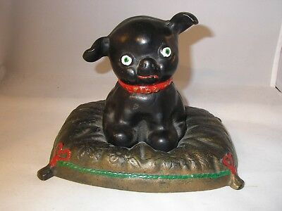 Cast Iron Dog Fido on Pillow Still Bank by Iron Art