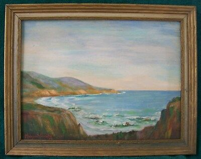 "CALIFORNIA AMERICAN IMPRESSIONIST 1934 MARGARET FORRESTER OIL PAINTING 16""x12""NR"