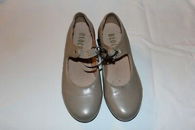 Girls Tap Dance Tan Shoes Size 1 Youth Leather Upper