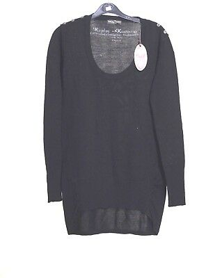 Replay Plain Crew Neck Sweatshirt Jumper Distressed Look M3453
