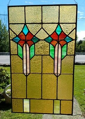 Antique Original Stained Leaded Glass Church Window, Easton, Pa