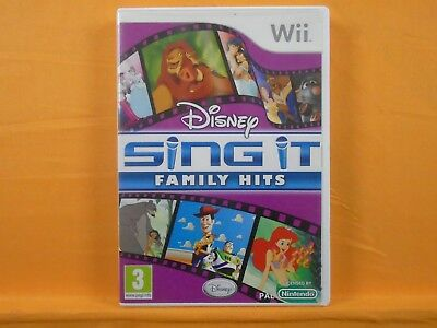 *wii DISNEY SING IT FAMILY HITS (NI) Lion King Toy Story Jungle Book + MORE! PAL