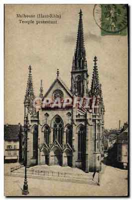 CPA Mulhouse Temple protestant