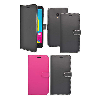 For Alcatel U5 Case Wallet Flip PU Leather Stand Card Slot Mobile Phone Cover