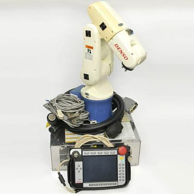 Denso VP-6242 6-axis Robot Arm with RC7M-VPG5 Controller and TP-RC7M-1 Pendant
