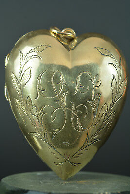 19Thc french brass reliquary box pendant Heart of Mary Ex Voto Devotion to Jesus