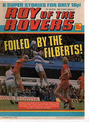 roy of the rovers comics march 1982 all 4 issues