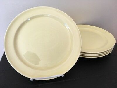 "Taylor Smith & Taylor Lu-Ray Pastels LUNCHEON PLATE Yellow 9 1/4"" USA Lot of 5"