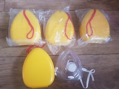 Mouth to mouth CPR face shields / masks / guards X 5