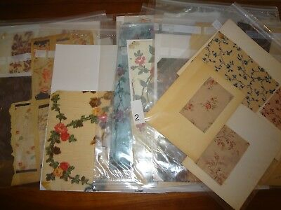 Antique Vintage fabric lot 15 bagged swatch samples most silk 1900's  museum
