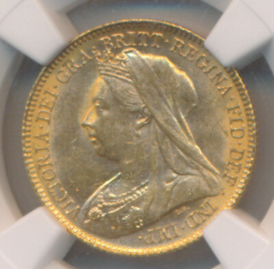 GREAT BRITAIN VICTORIA 1/2 Sovereign 1900 NGC MS62