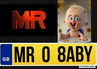 MR08 ABY Private Car Registration Plate Number MR BABY SON DAUGHTER NEW