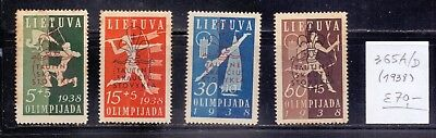 ! Lithuania 1938. Stamp. YT#365A/D. €70.00 !