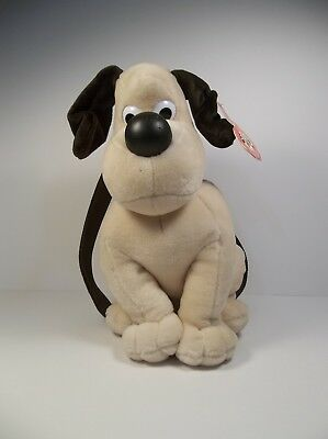 Wallace & Gromit Rare 1989 Plush Gromit Backpack