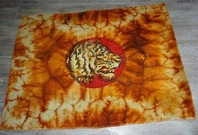 Antique Chase Tiger Horse Hair Wool Lap Buggy Blanket Carriage Sleigh Model T