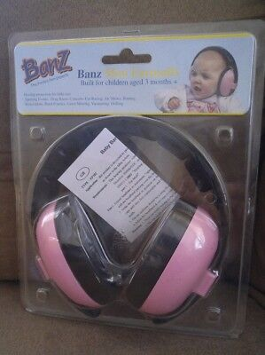 Baby Banz Mini Earmuffs For Ages 3 Months+  Pink