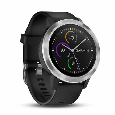 Garmin Vivoactive 3 Black w/ Stainless | 010-01769-01 | AUTHORIZED GARMIN DEALER