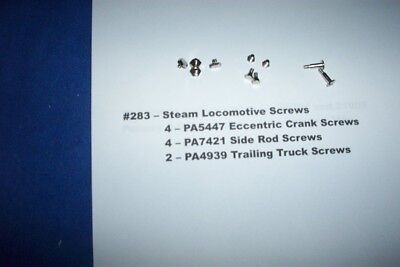 American Flyer Parts - Steam Loco Screws - 10 pieces #283