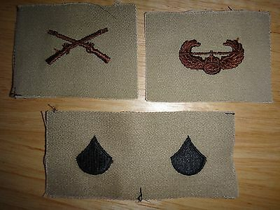 4 US Army Patches: CAVALRY Corps + AIR ASSAULT + Pair Of SPECIALIST E-4 Rank