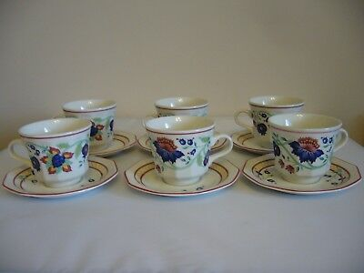 Churchill England The Chartwell Collection Tamarind 6 Cups 6 Saucers 5 Tea Plate