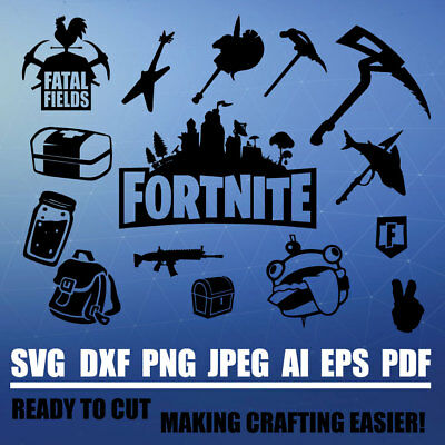 Fortnite Emote Cut Files Silhouette Studio Cricut Svg Dxf Jpg Png Eps Pdf Ai P3