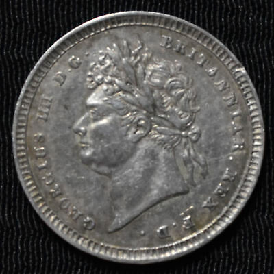 1822 Great Britain, George Iv Maundy 2 Pence, Km 684, Extremely Fine
