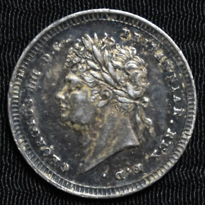 1826 Great Britain, George Iv Maundy 2 Pence, Km 684, About Uncirculated