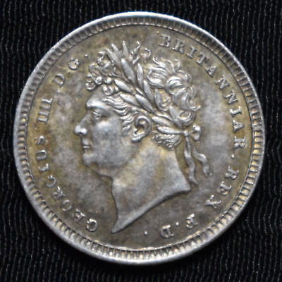 1822 Great Britain, George Iv Maundy 2 Pence, Km 684, Choice About Uncirculated