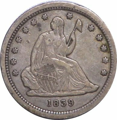 1839 Seated Liberty Quarter Silver 25C