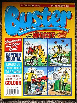 Buster with Whizzer & Chips Comic 1st December 1990