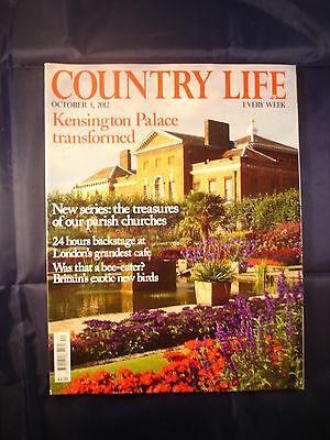 Country Life - October 3, 2012 - London's grandest Cafe - churches - Kensington