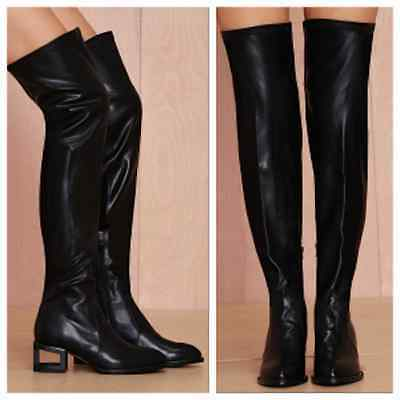 fe2f5b3b9e6 Jeffrey Campbell Basie Boot - Blackout boots size 6 new in box