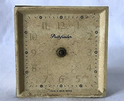 Spares Repairs PATHFINDER Great Britain Clock Dial Movment & Case Back NEEDS ATN