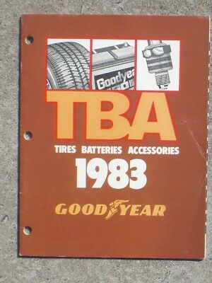 Goodyear Tire & Rubber Co. 1983 TBA catalog Anco  AC Delco Moog Wagner